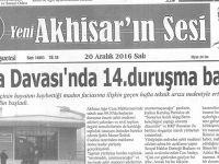 Yeni Akhisarın Sesi Gazetesi 20 Aralık 2016