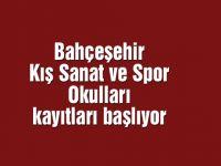 Bahçeşehir Kış Sanat ve Spor Okulları kayıtları başlıyor