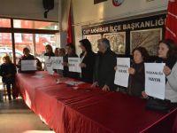 CHP Kadın Kolları, Mecliste yaşanan şiddeti kınadı