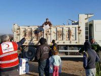 Kızılay'dan Akhisar'daki Suriyeli ailelere yardım