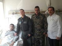 Tuğgeneral Göktun, Gazi Kayhan'ı ziyaret etti