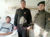 Jandarma Komutanından El Bab Gazisine ziyaret