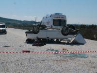 Akhisar'da otomobil takla attı; 1 çocuk hayatını kaybetti