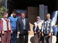 Evi Yanan Aileye Yardım Eli Büyükşehir'den