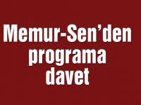 Memur-Sen'den programa davet
