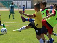 Akhisar Belediyespor futbol şenliğinde minik kramponlar hünerlerini sergiledi