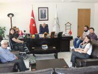 Engelli meclisinden Belediye Başkanı Salih Hızlı'ya ziyaret