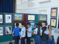 Ülkü ortaokulu sanatla şenlendi