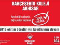 Akhisar Bahçeşehir Koleji 2017-2018 kayıtları devam ediyor