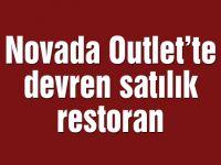 Novada Outlet'te devren satılık restoran