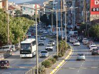 Akhisar'da bayram dönüşü yoğun trafik