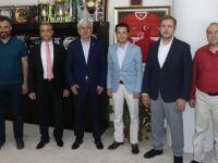 Başsavcı ve Ağır Ceza Reisi, Belediye Başkanı Salih Hızlı'ya veda etti