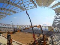 Spor Toto Akhisar Stadyumunda hibrit çim çalışmaları başladı