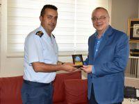 Hava Meydan Komutanı, Ergün'ü Ziyaret Etti