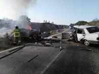 Soma-Savaştepe'de savaş gibi kaza