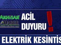 Atatürk ve Cumhuriyet Mahallesinde elektrik kesintisi