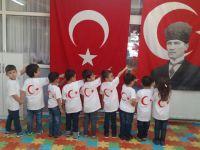 Şehit Yüzbaşı Necdi Şentürk Anaokulundan coşkulu Cumhuriyet Bayramı kutlaması