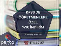 Penta Akademi'de KPSS'de Öğretmenlere özel yüzde 10 indirim