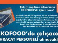 Ekofood'ta çalışacak ihracat personeli aranıyor