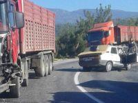 Akhisar Gördes yolunda feci kaza 1 kişi hayatını kaybetti