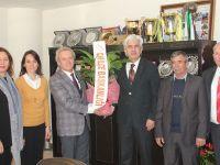 CHP Akhisar yeni yönetiminden Belediye Başkanı Salih Hızlı'ya ziyaret