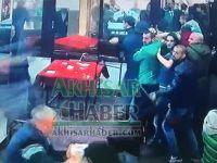 İşte Bursaspor taraftarının maçın ardından bastığı kahvehaneden olay görüntüler