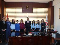 Ülkü Ortaokulu öğrencilerinden Cumhuriyet Başsavcısı Akbulut'a ziyaret
