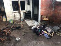 Akhisar Efendi Mahallesindeki yangında 1 kişi yaralandı