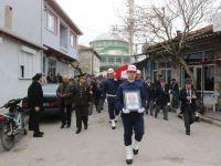 Akhisarlı Kore Gazisi Mustafa Taşlı askeri tören ile son yolculuğuna uğurlandı