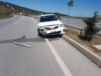 Boğazhan'da maddi hasarlı kaza