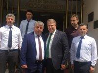 AK Parti Milletvekili aday adayı Ergün Karaoğlu, Ziraat Odası ziyaret etti