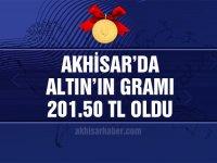Akhisar'da altının gramı 201.50 TL oldu