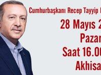 Cumhurbaşkanı Recep Tayyip Erdoğan, Akhisar programı kesinleşti