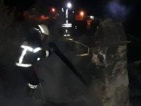 Süleymanköy Mahallesinde korkutan yangın