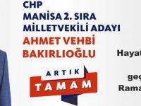 CHP Manisa 2. sıra Milletvekili Adayı Ahmet Vehbi Bakırlıoğlu