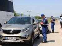 Jandarma'dan Akhisar'da bayram öncesi trafik denetimi