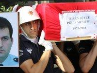 Akhisarlı polis memuru Turan Sütçü son yolculuğuna uğurlandı