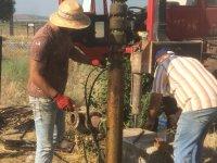 Beyoba'da eskiyen tarımsal sulama pompası yenilendi