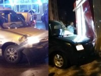Akhisar, Zeytinliova kavşağında feci kaza ucuz atlatıldı