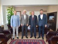 Başkan Hızlı, yeni Kaymakam Sabit Kaya'yı makamında ziyaret etti