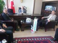 Türk Eğitim-Sen, Kaymakam Sabit Kaya'yı ziyaret etti