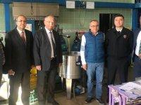 Kaymakam Sabit Kaya, zeytin ve zeytinyağı fabrikalarını ziyaret etti