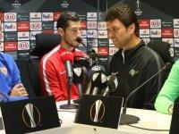 Akhisarspor, Sevilla maçı öncesi basın toplantısı düzenlendi