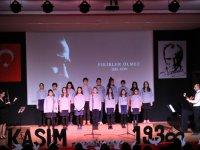 Akhisar Bahçeşehir Koleji'nde 10 Kasım Atatürk'ü Anma Töreni yapıldı