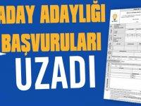 AK Parti'de Bugün Sonlanacağı Açıklanan Aday Adaylığı Başvuru Süresi uzatıldı