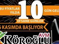 Köroğlu AVM'de Efsane Günler Kampanyası