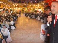 CHP'li Tavlı Tütün Otel'de 800 kişinin katıldığı muhteşem bir toplantı yaptı