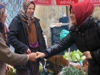 Şükran Füzün, köylü pazarında