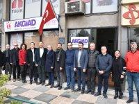 CHP İlçe teşkilatı, AKGİAD'ı ziyaret etti