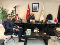 Remzi Şekerci, Başkan Hızlı'yı makamında ziyaret etti